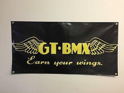 old school bmx se racing logo 2x4 banner vdc gt mancave display se gt