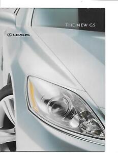 """""""neuf"""" Lexus Gs Modèle Sales Brochure Novembre 2004 Pour 2005-afficher Le Titre D'origine"""