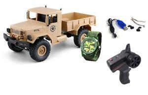 RC-U-S-Militaer-Truck-4WD-1-16-RTR-sandfarben-Uhr-inkl-Akku-und-Ladegeraet