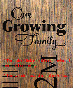 Image Is Loading Our Growing Family Add On Head Sticker Growth