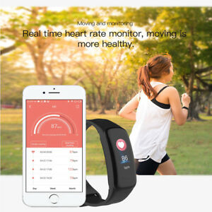 Bluetooth-SMART-FITBIT-watch-Heart-Rate-amp-Blood-Pressure-Monitor-Fitness-Tracker