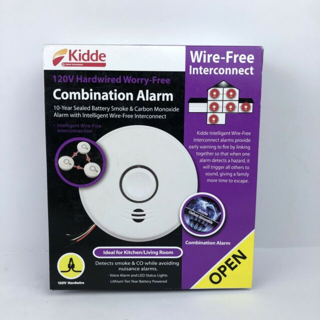 Kidde Hardwire Smoke /& Carbon Monoxide Detector w// Wire-Free Voice Interconnect