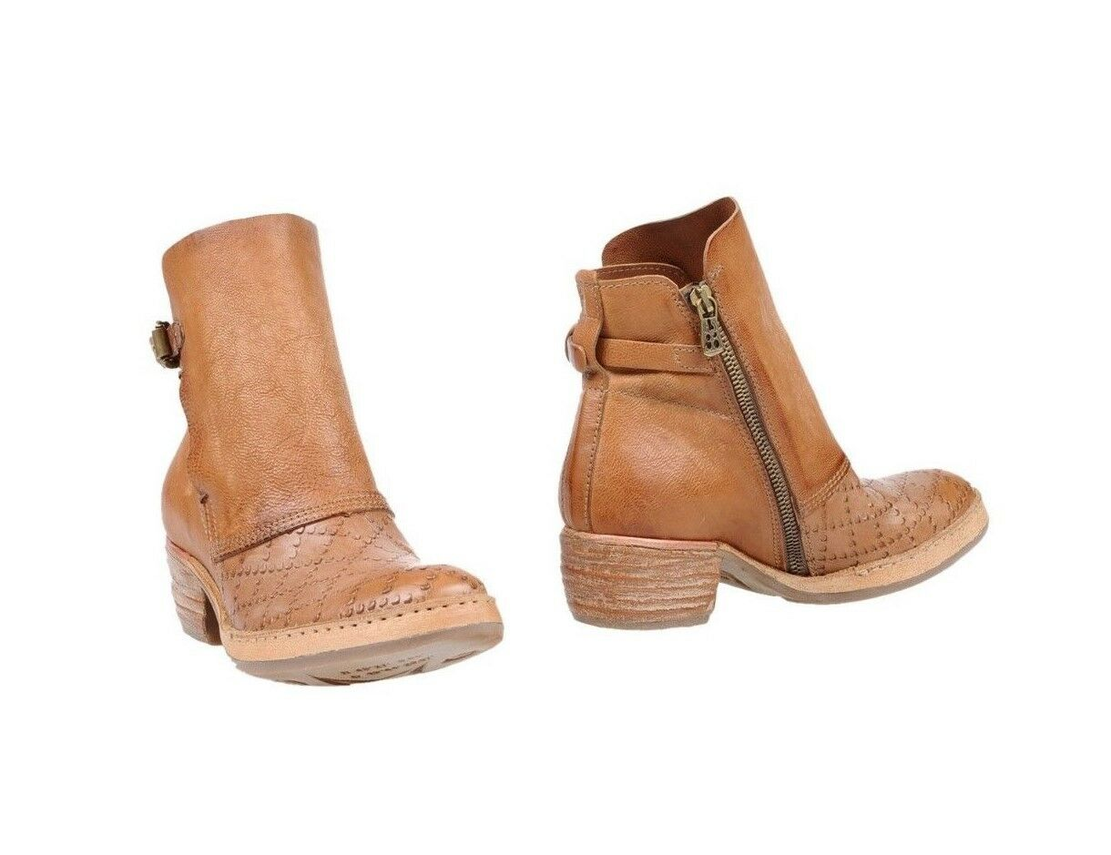 NIB A.S.98  AS98 FREE PEOPLE Tan Leather Ankle bottes démarrageies  37  6.5-7