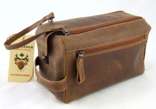 Landleder culture sac buffle-Cuir 26*14*15 cm culture sachet de lavage-sac 653
