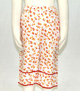 JACADI-Girl-039-s-Margine-Cute-Multi-Color-Floral-Capri-Bottoms-Sz-8-Years-NWT-54