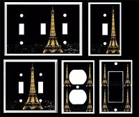 Eiffel Tower At Night Light Switch Cover Plate