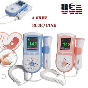Best Multi Pregnancy Baby fetus Heart Monitor Fetal Doppler Sound w// Gel US SHIP