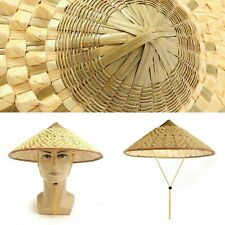 C555 Vietnamese Coolie Bamboo Cone Farmer Rain Hat Prop Asian Dance Classic