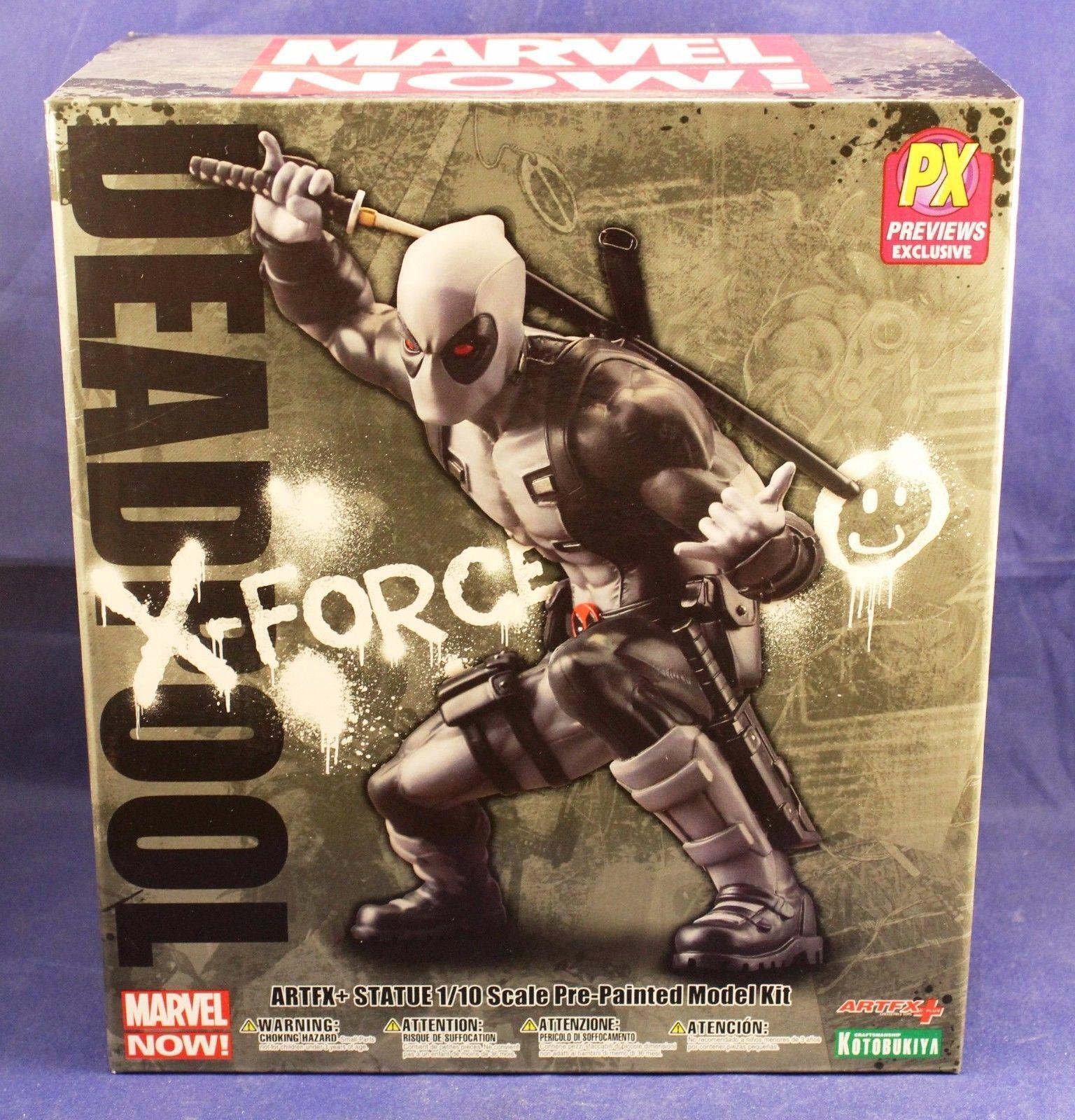 Kotobukiya ArtFx Statue Marvel Now Comics Deadpool PX Exclusive X-Force Previews