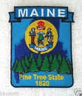 MAINE STATE MAP Biker Patch PM6720-2 EE