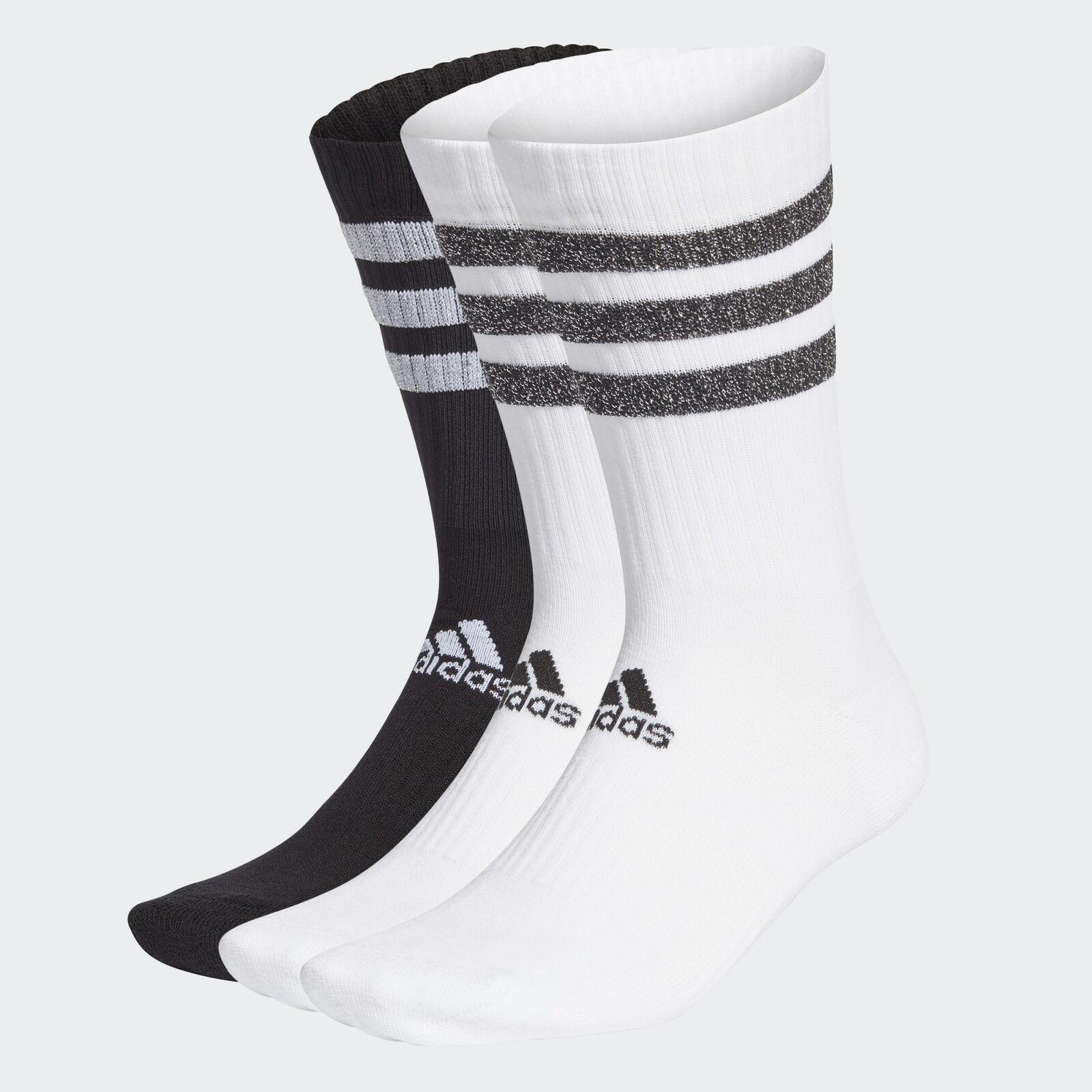 ADIDAS Socken / 3 Paar / 3S GLAM CRW WMS / Wadenlang