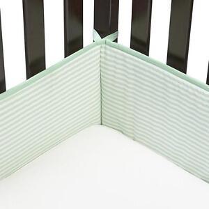 K Baby Infant's 4-Pc Crib Bumper Striped Green/White