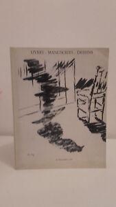Libros-Manuscritos-Dibujos-1987-Catalogo