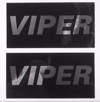 Viper Alarm Lc3 2 Way Mirror Decal Custom Sticker Gloss Black Chrome Authentic