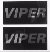 Viper Alarm Lc3 2 Way Mirror Decal Custom Sticker Gloss Black Chrome Authentic