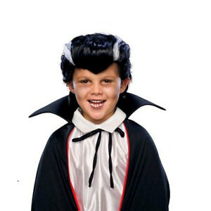 Boys-Vampire-Costume-Wig-Dracula-Child-Halloween-Scary-Hair-Party-Accessory