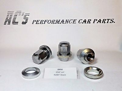 """Wheel Nut Kit Car 1//2/"""" UNF 16x Wolfrace Stlye Wheel Nut"""