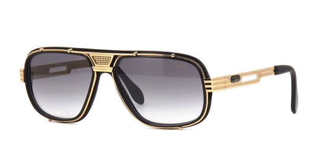 25f7ea9e8a CAZAL Legends 665 001sg Black Gold Plastic Aviator Sunglasses Grey ...