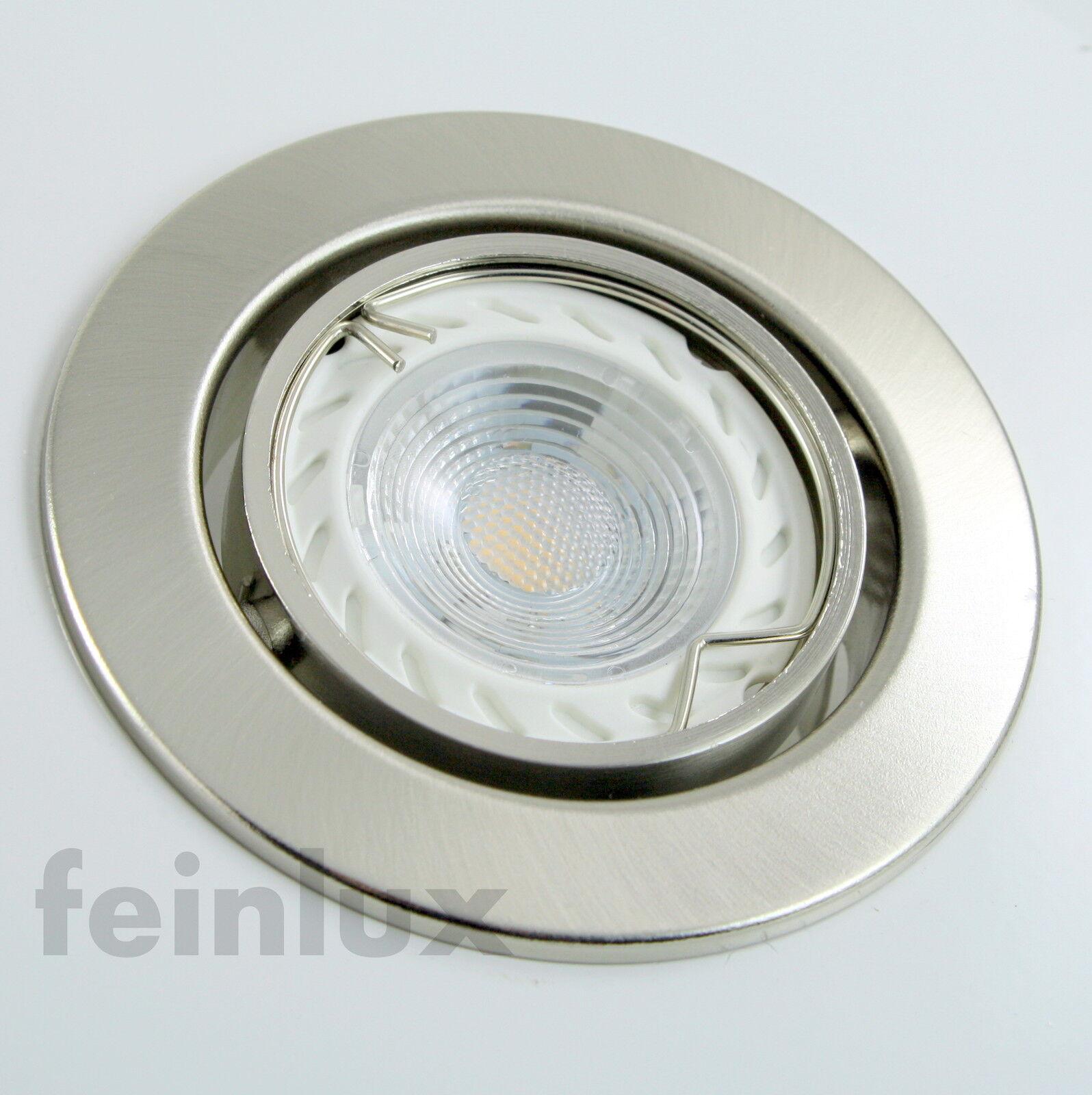 3-20er Set LED Einbauleuchten Einbaustrahler Einbauspots 5W GU10 230V