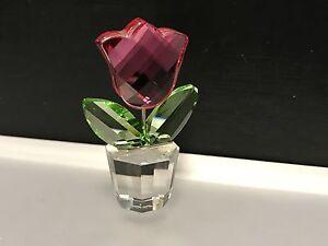 Swarovski-Figurine-Pot-de-Fleurs-Fleur-5-Cm-Etat-Top