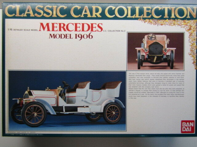 Bandai Vintage 1 16 Scale 1906 Mercedes-Benz Model Kit - New, Rare & Motorisable