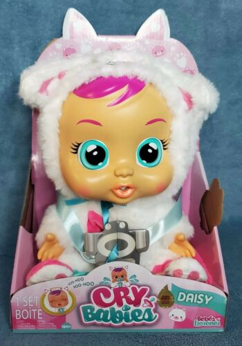 """Cry Babies """"Daisy"""" The Kitty Cat Doll With Pacifier Sounds /& Real Tears NEW"""