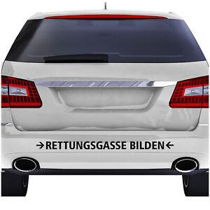 Rettungsgasse-Bilden-60cm-Schwarz-Aufkleber-Folie-Stau-Sticker-Auto-Leben-KX063