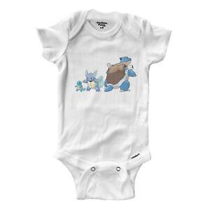 Infant-Gerber-Onesies-Bodysuit-Baby-Clothes-Print-Squirtle-Wartortle-Blastoise