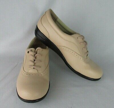 Scholl/'s Leather Oxfords shoes 8W 9W white lace-up double air-pillo insole Dr
