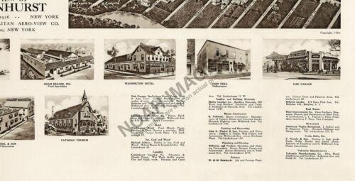 Lindenhurst New York c1926 panoramic map 18x24