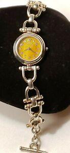 Ecclissi Sterling Silver Stirrup Link Bracelet Watch 57gr 32393