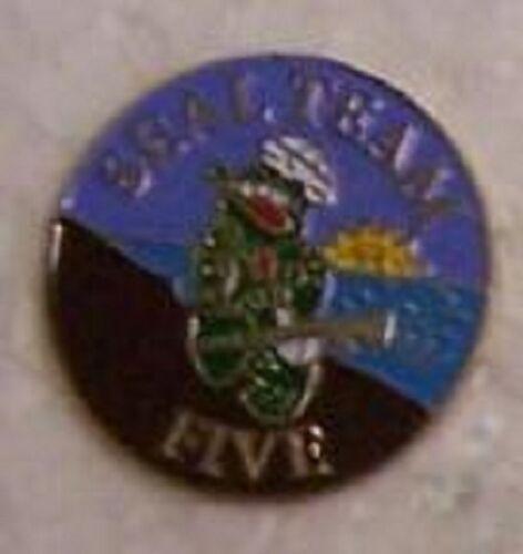 Hat Lapel Push Tie Tac Pin USN Seal Team Five 5 NEW