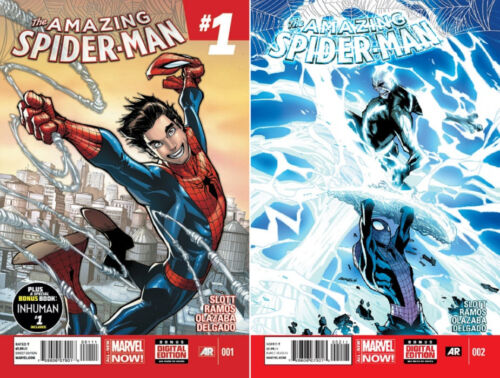 AMAZING SPIDER-MAN #1 2 1ST PRINT SET 1ST APPEARANCE OF SILK UPCOMING SONY MOVIE