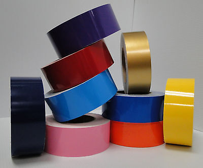 """4"""" x 150 ft Roll Vinyl Pinstriping Vinyl Striping Tape 25 Colors Available!"""