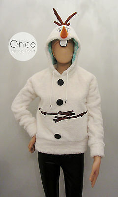 Primark Ladies DISNEY FROZEN OLAF Character HOODIE Hooded Jumper Sweatshirt