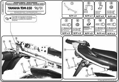 Givi 336f Staffe Monorack Bauletto Monokey Monolock Yamaha Tdm 850 2000 2001 Sconto Complessivo Della Vendita 50-70%
