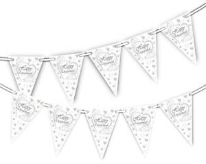Happy-Engagement-Grey-Hearts-Bunting-15-flags-by-Party-Decor