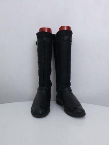 Uk6 Leather 39 Leombruni Boots Giusti Italian Black Made real Attilio Shearling pSPAntw