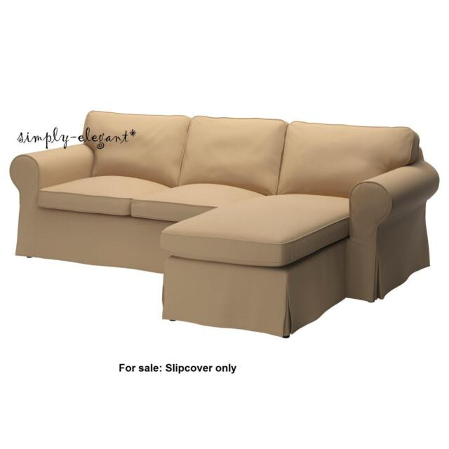 IKEA EKTORP Cover For Ektorp Loveseat W/ Chaise Idemo Beige Tan 002.474.26  NEW