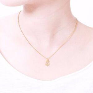 Damen Kette Versilbert Vergoldet Rosé Vergoldet Halskette Anker Herz Anhänger