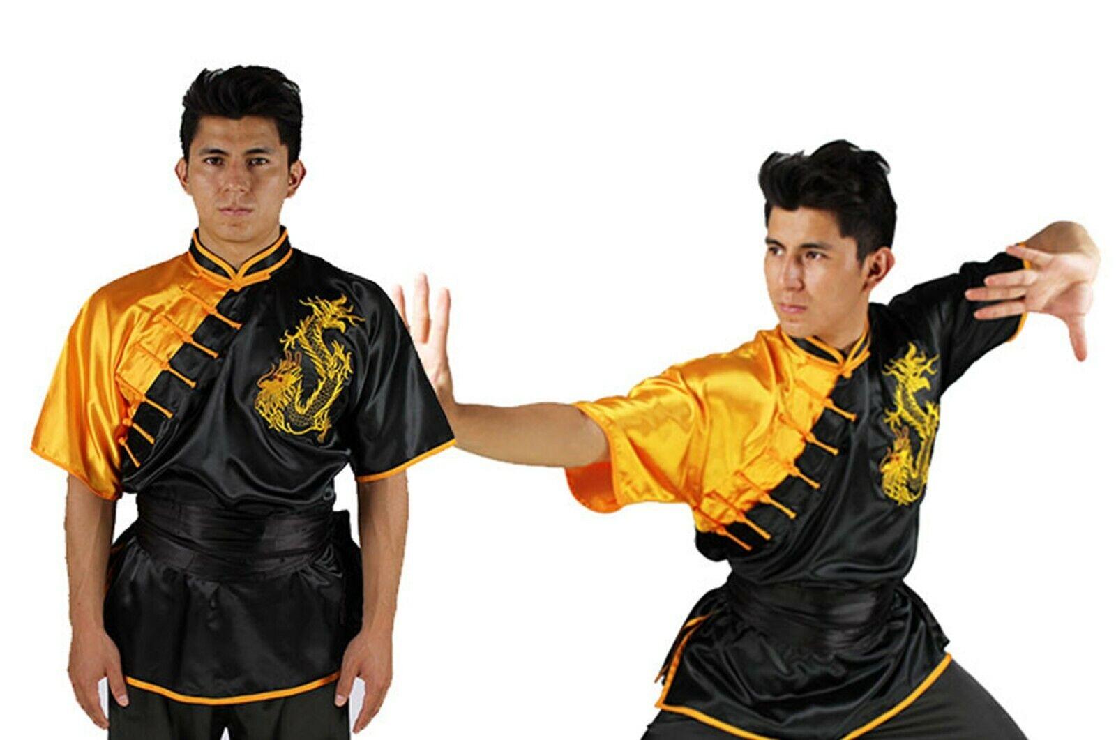 einheitliche Kimono KUNG FU Uniform Chang Quan Shan XI schwarz drago bestickt
