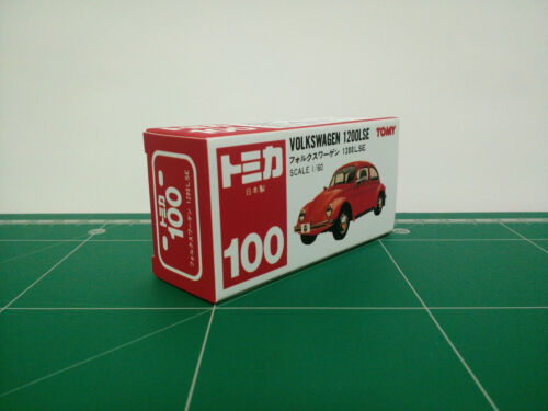 REPRODUCTION BOX for Tomica Red Box No.100 Volkswagen 1200LSE