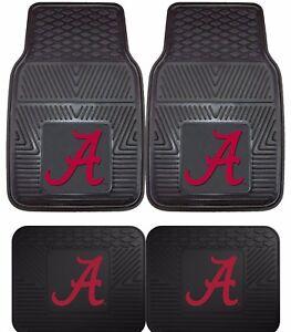 Alabama-Crimson-Tide-Heavy-Duty-Floor-Mats-2-amp-4-pc-Sets-for-Cars-Trucks-amp-SUV-039-s