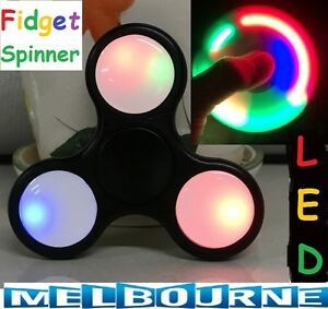 LED-Flash-Light-3D-Fidget-Hand-Finger-Spinner-EDC-Focus-Stress-Reliever-Toy-AU