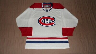 low price sale buying new super cheap Montreal Canadiens White CCM Men's Size Medium NHL Hockey Jersey ...