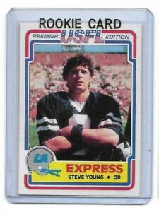 1984-Topps-USFL-52-STEVE-YOUNG-ROOKIE-RC-REPRINT-RP-Los-Angeles-Express