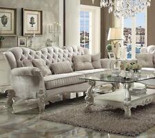Acme Furniture Ivory Versailles 52105 Sofa Velvet Classic Traditional