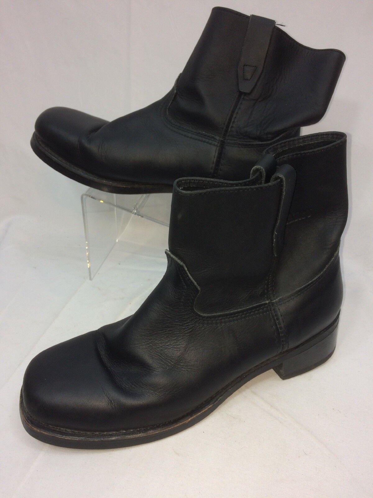 Durango Men Biker Boots Size 13 D Black Style Vulcan Sole Oil Resistant