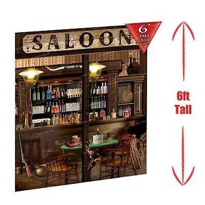 6ft-Saloon-Bar-Cowboy-Western-Scene-Setter-Decoration-Wild-West-Hat-Guns-3-Piece