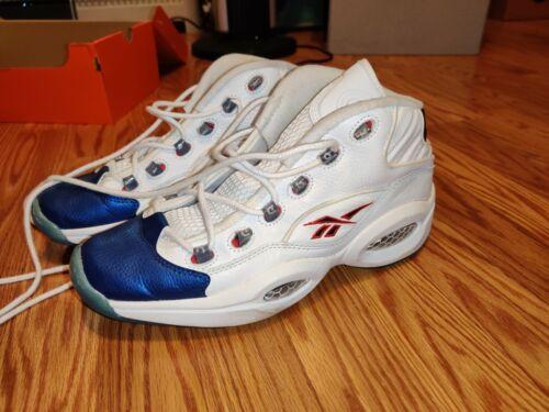 Reebok Question Mid Iverson Basketball Sneaker Blu